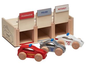 Einsatzfahrzeuge-Set Holz<br> Aktionspreis EUR 62,10* <br>(statt EUR 69,00)